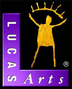 LucasArts_GoldGuy_logo_purple
